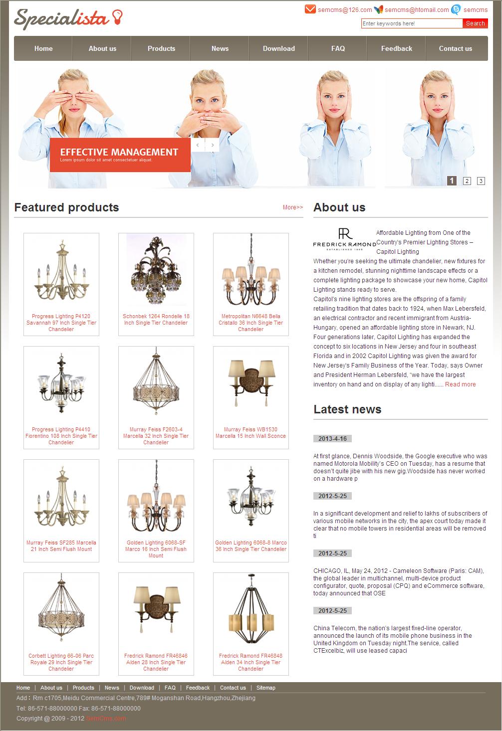 semcms外贸网站英文网站模版